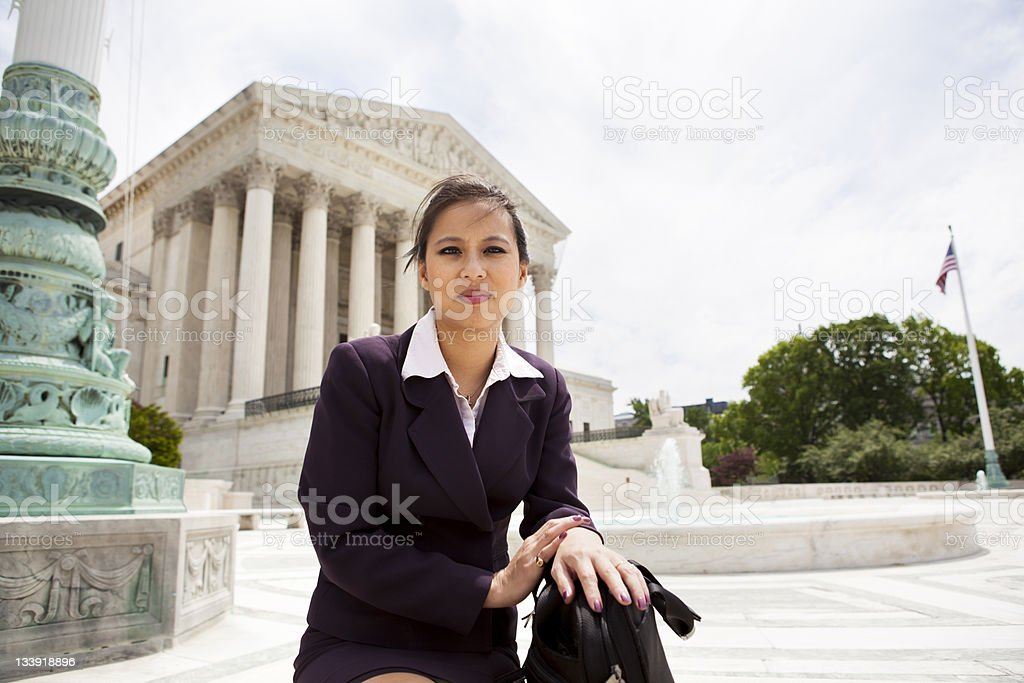 Businesswoman at Supreme Court royalty-free stock photo