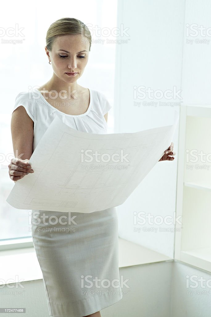 Businesswoman at work royalty-free stock photo