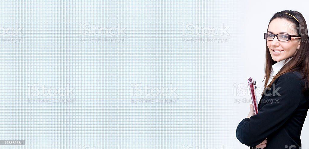 Businesswoman Banner royalty-free stock photo