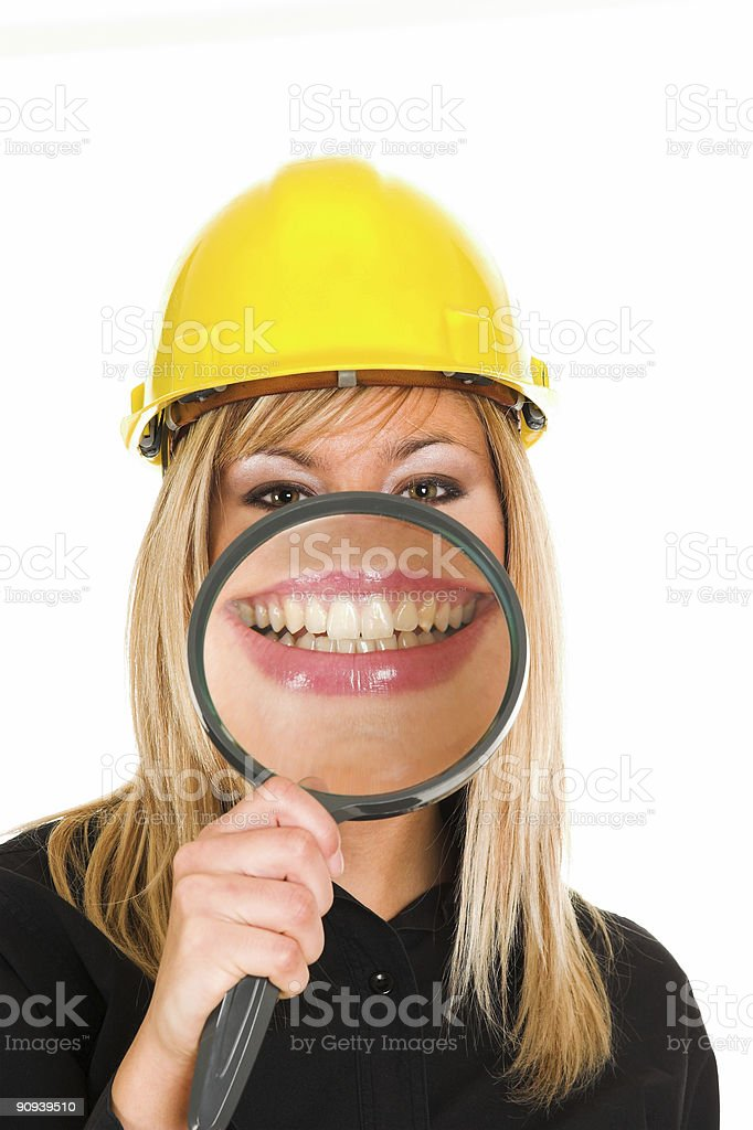businesswoman, big smiling royalty-free stock photo