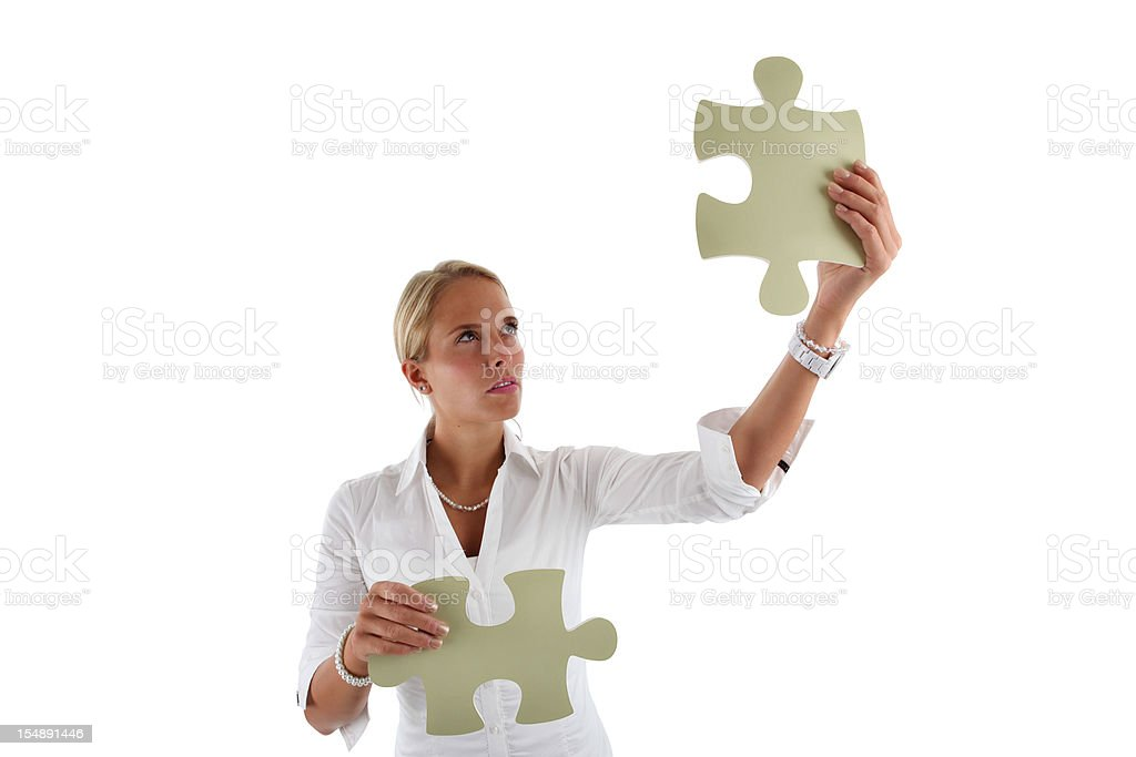 Businesswoman Brainstorming Solutions royalty-free stock photo