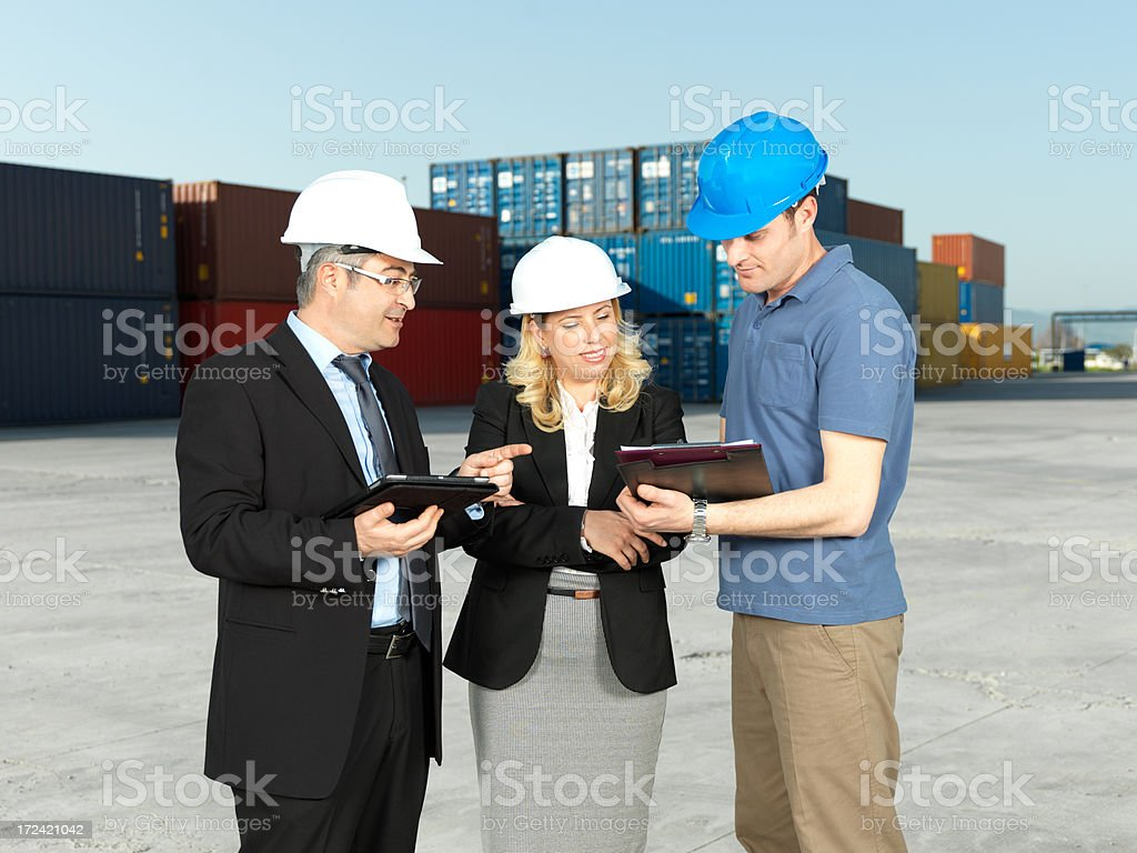 Businesswoman  Businessman and Engineer royalty-free stock photo