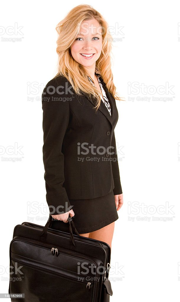 Businesswoman Carrying a Briefcase royalty-free stock photo
