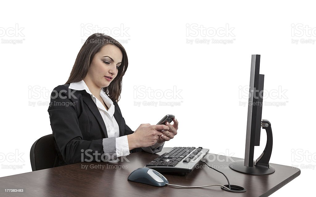 Businesswoman Checking Her Mobile royalty-free stock photo
