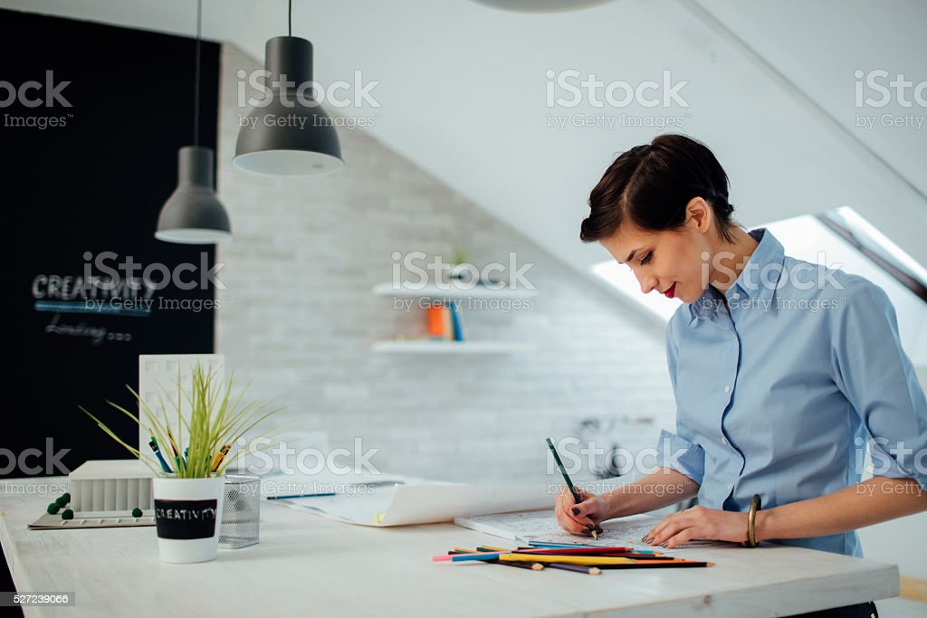Businesswoman Coloring Book stock photo