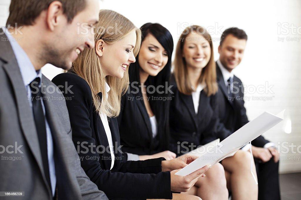 Businesswoman explaining. royalty-free stock photo