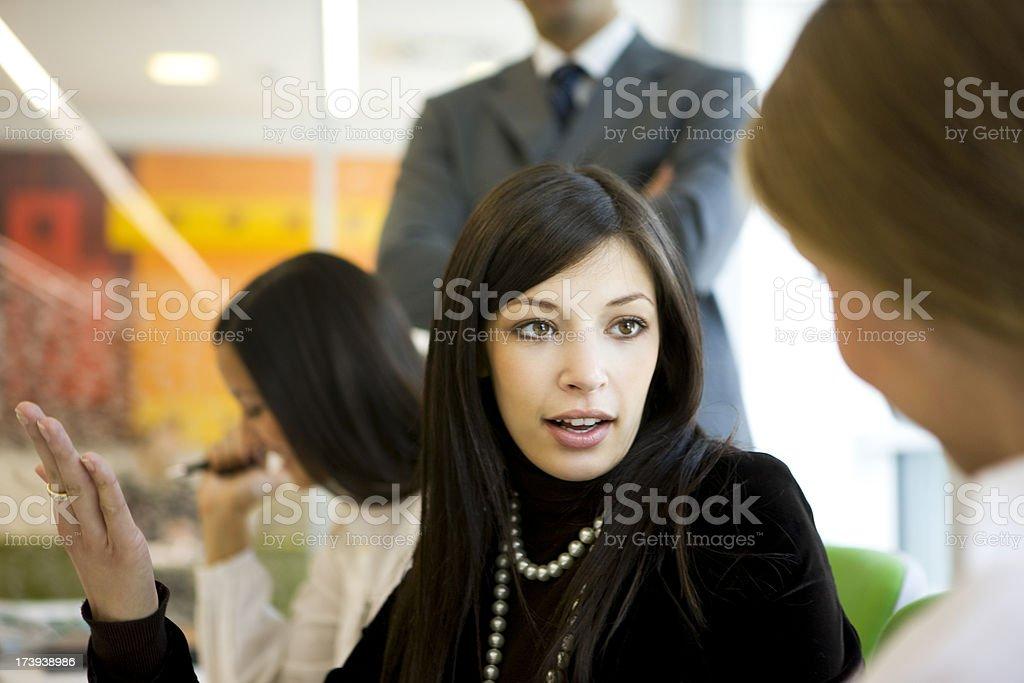Businesswoman Explaining royalty-free stock photo
