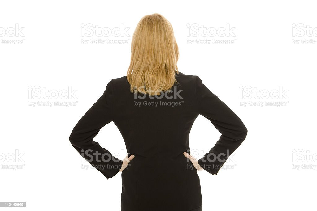Businesswoman faces away royalty-free stock photo