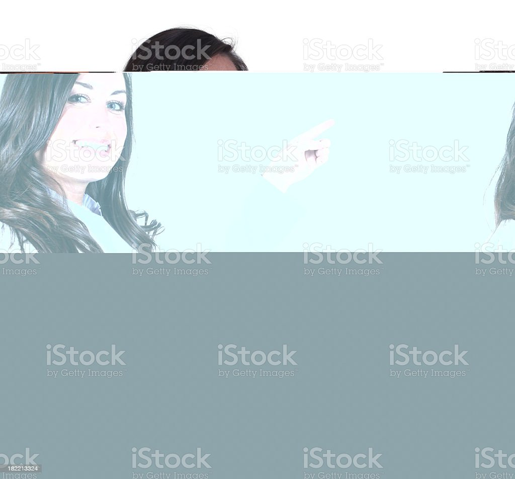 Businesswoman folding arms royalty-free stock photo