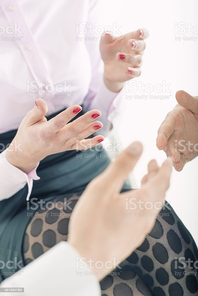 Businesswoman gesturing royalty-free stock photo