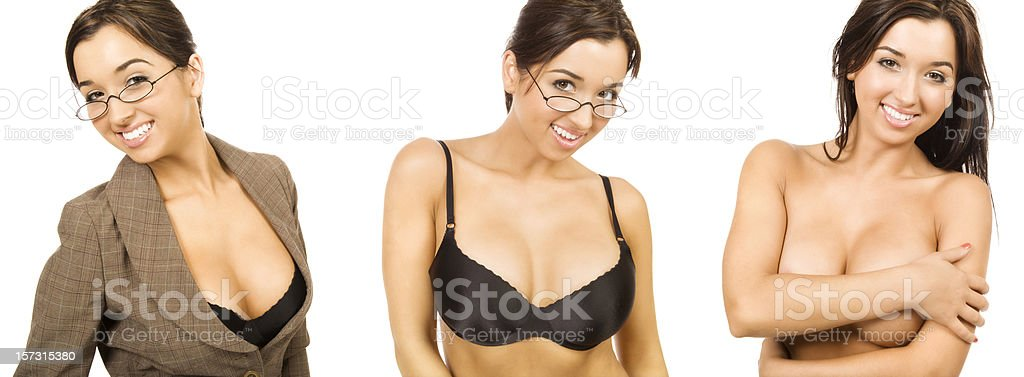 Businesswoman Getting Comfortable royalty-free stock photo
