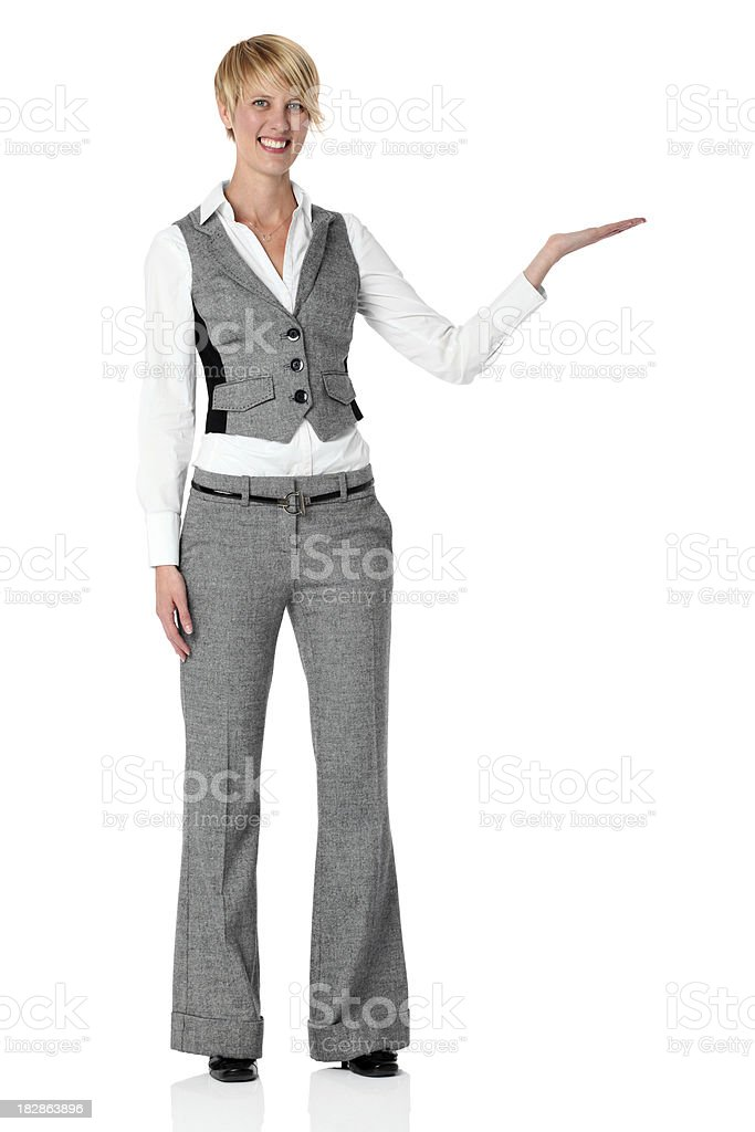 Businesswoman giving presentation royalty-free stock photo