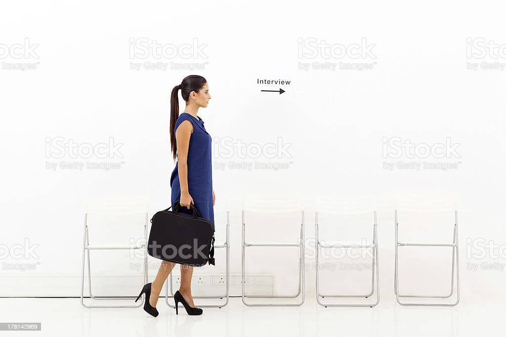 businesswoman going for job interview royalty-free stock photo