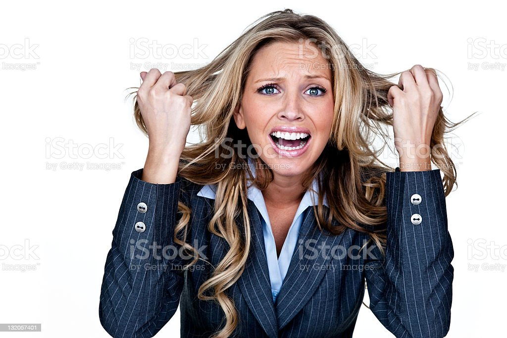 Businesswoman having a bad day royalty-free stock photo