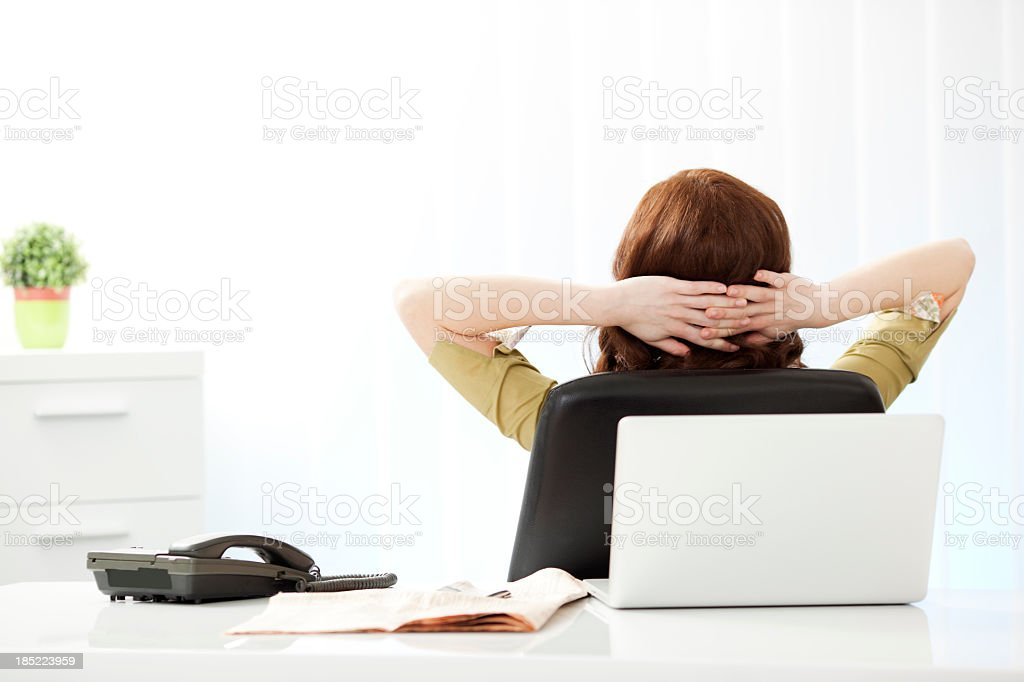 Businesswoman Having Break. royalty-free stock photo