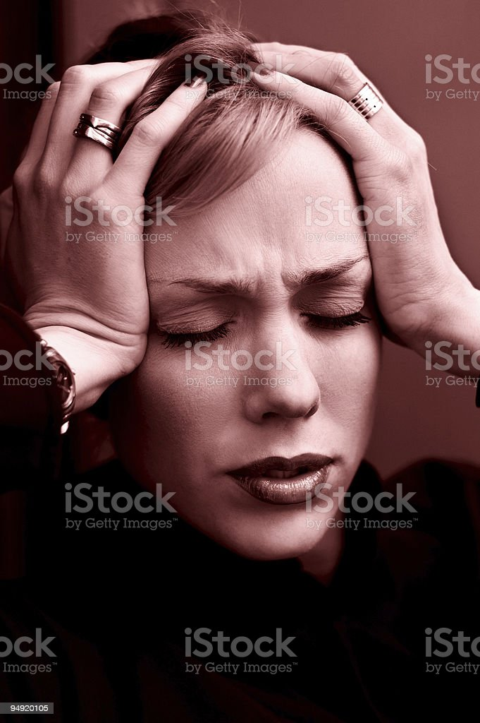 Businesswoman headache royalty-free stock photo
