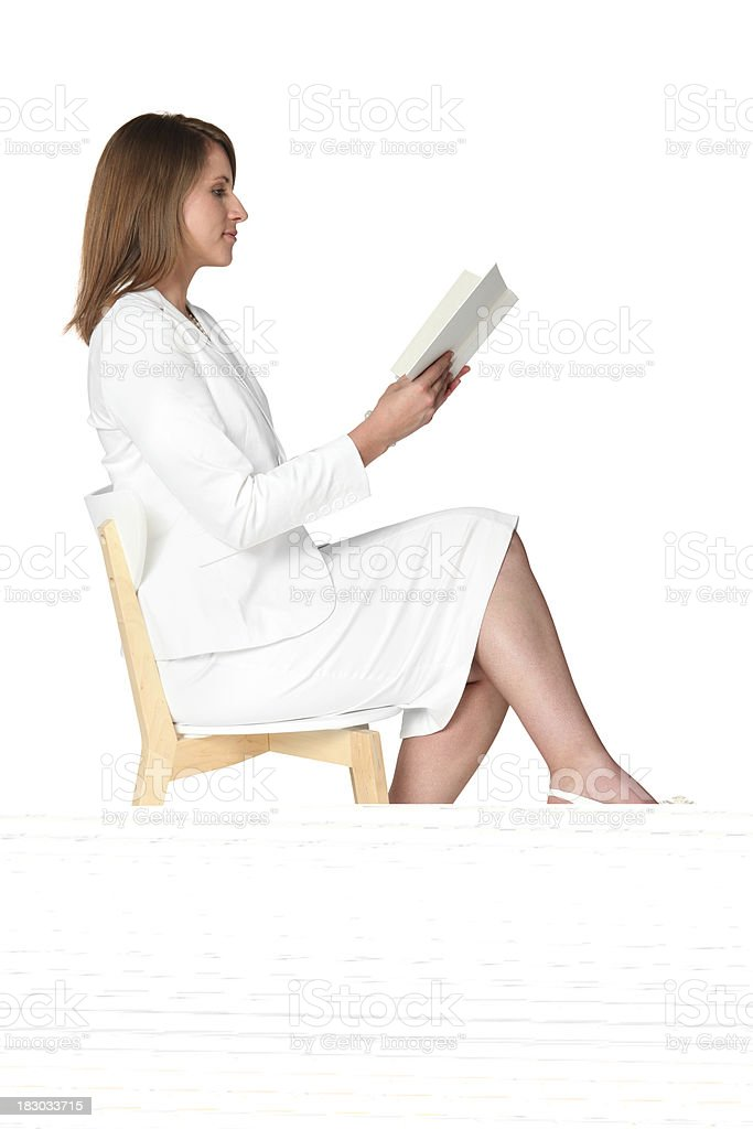 Businesswoman holding an umbrella royalty-free stock photo