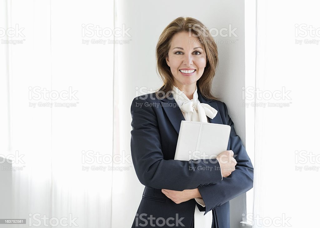 Businesswoman Holding Digital Tablet royalty-free stock photo