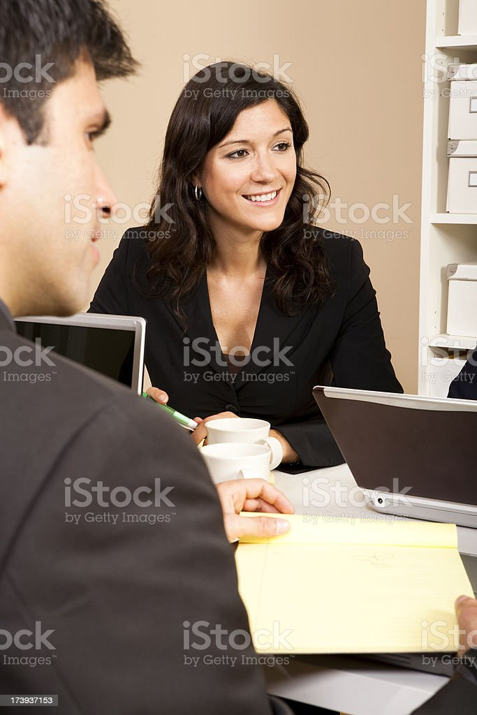 Businesswoman in a Meeting royalty-free stock photo