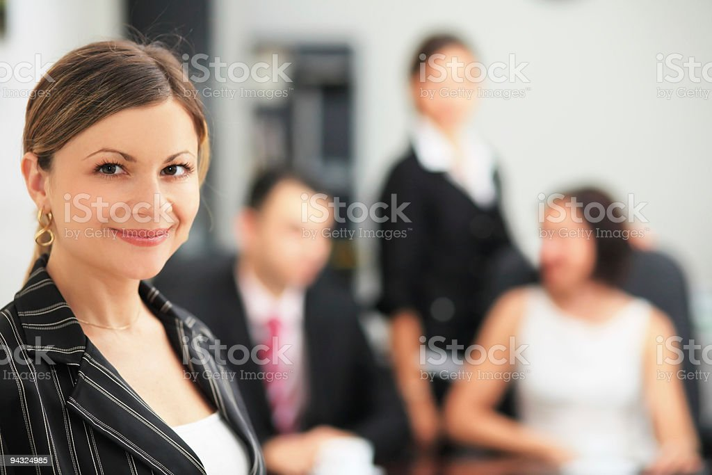 Businesswoman in a office environment royalty-free stock photo