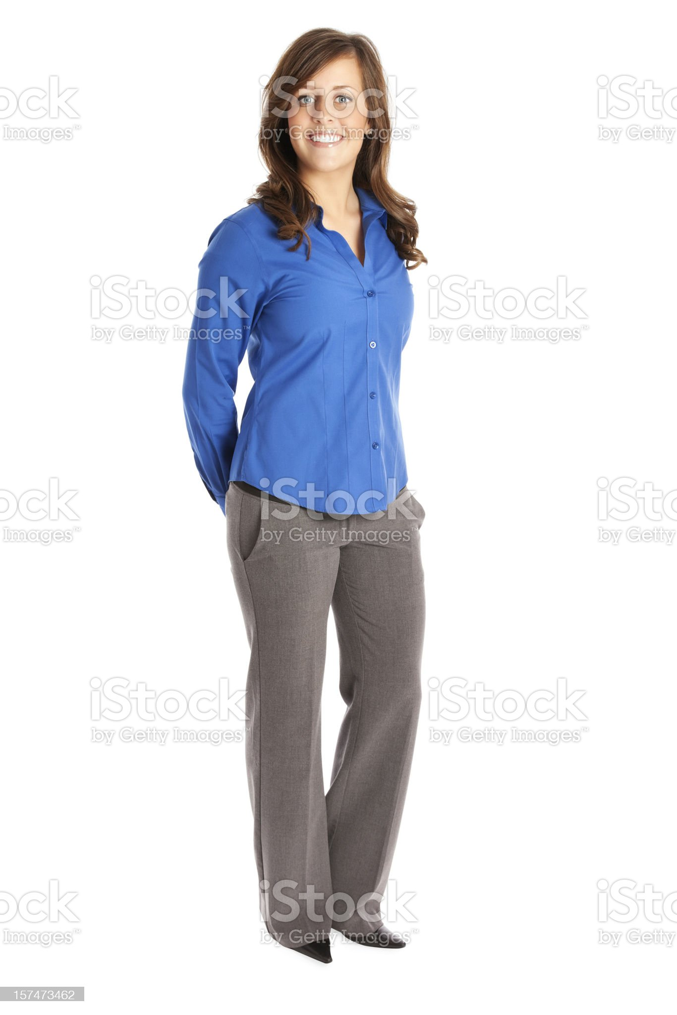 Businesswoman in Blue royalty-free stock photo