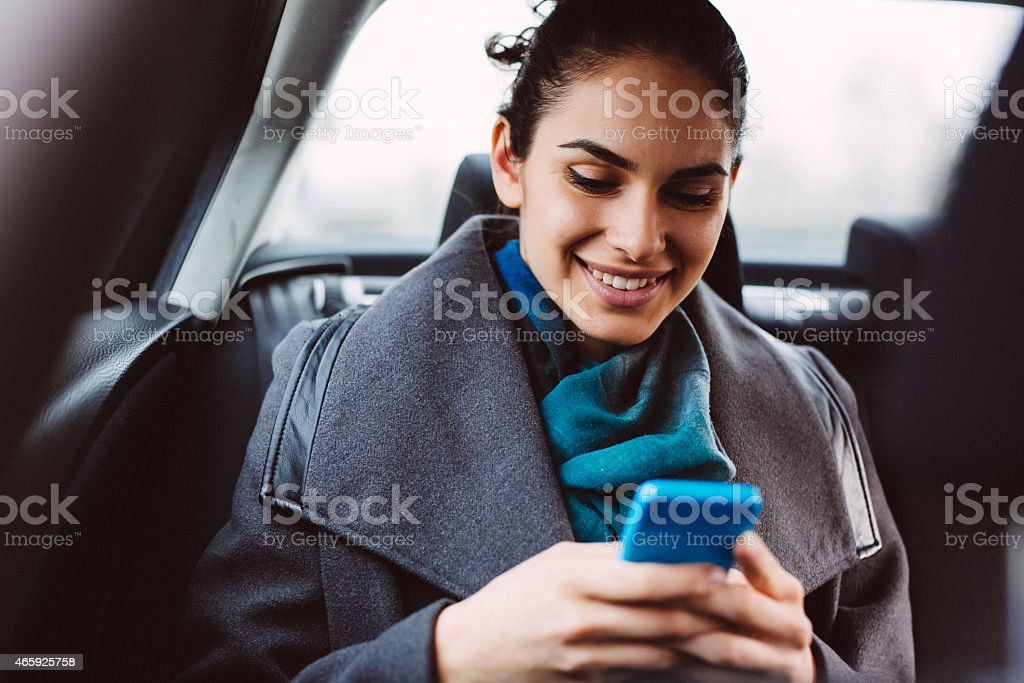 Businesswoman in Car stock photo