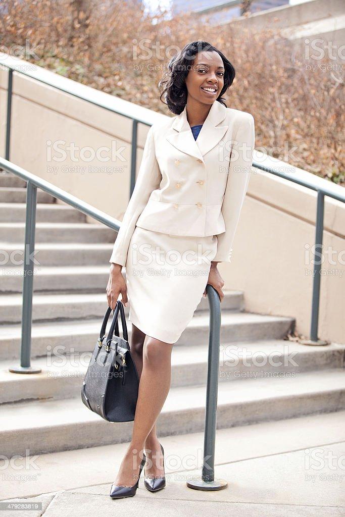 Businesswoman in City stock photo