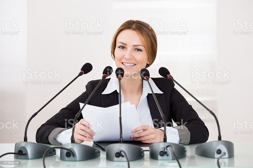 Businesswoman In Conference royalty-free stock photo