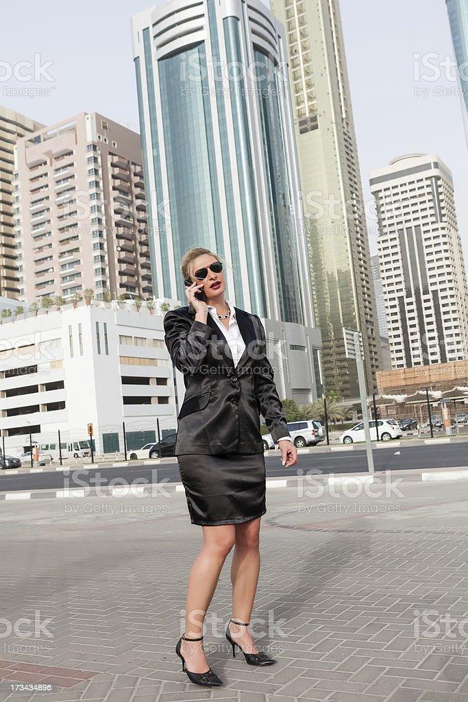 Businesswoman in Dubai royalty-free stock photo