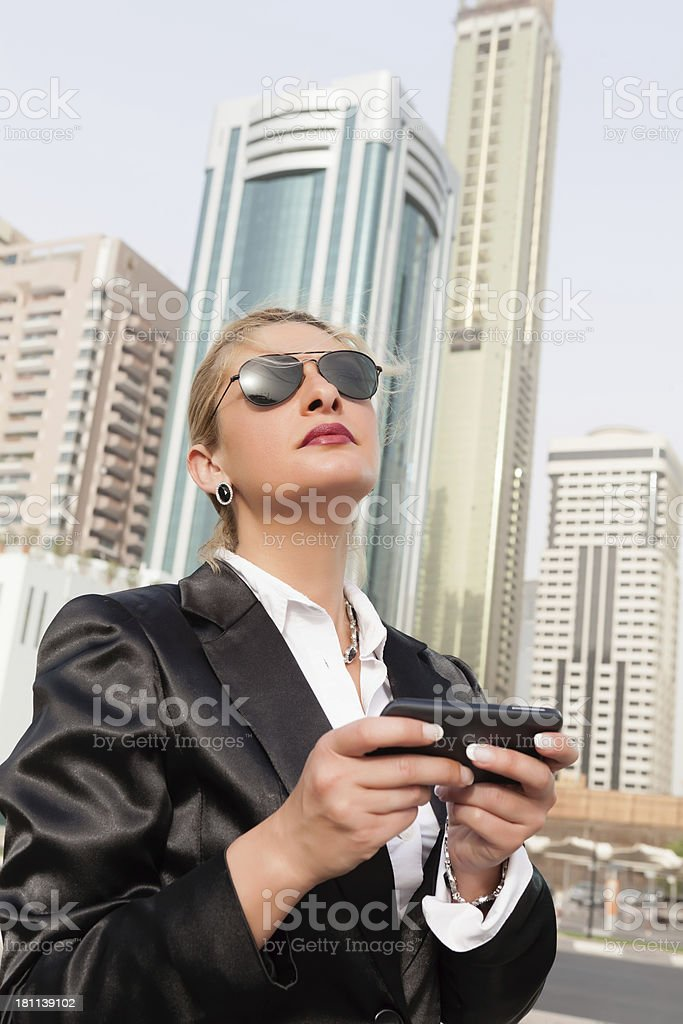 Businesswoman in Dubai royalty-free stock photo