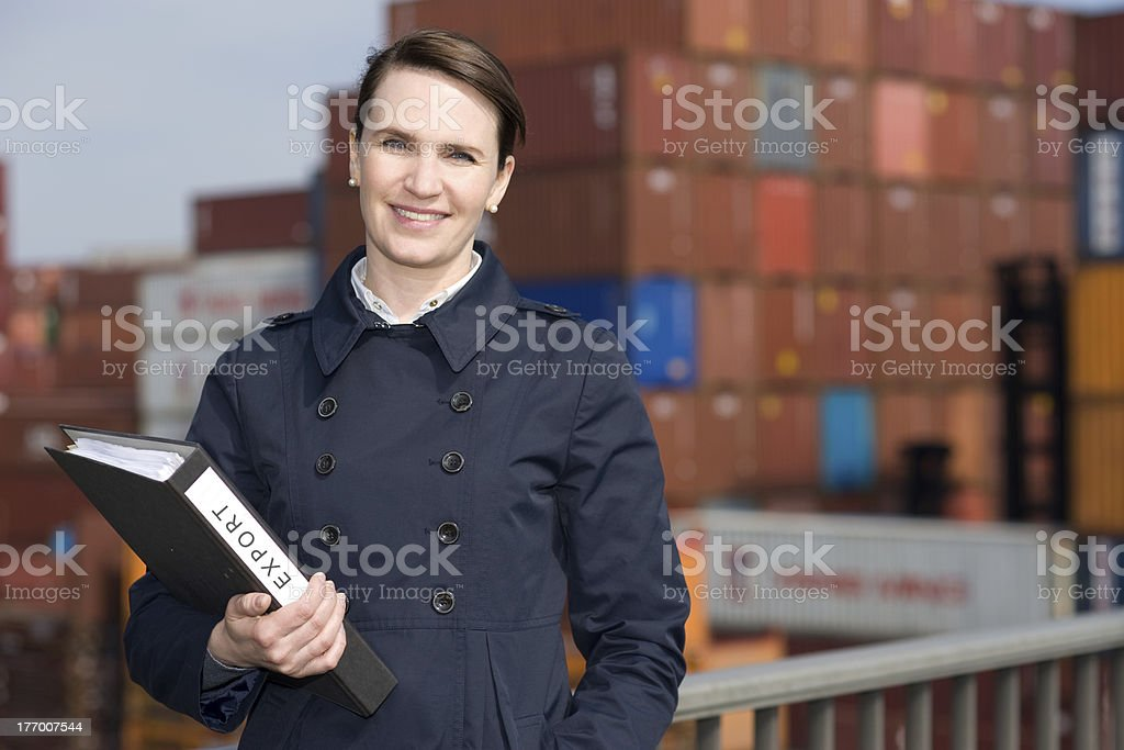 Businesswoman in export royalty-free stock photo