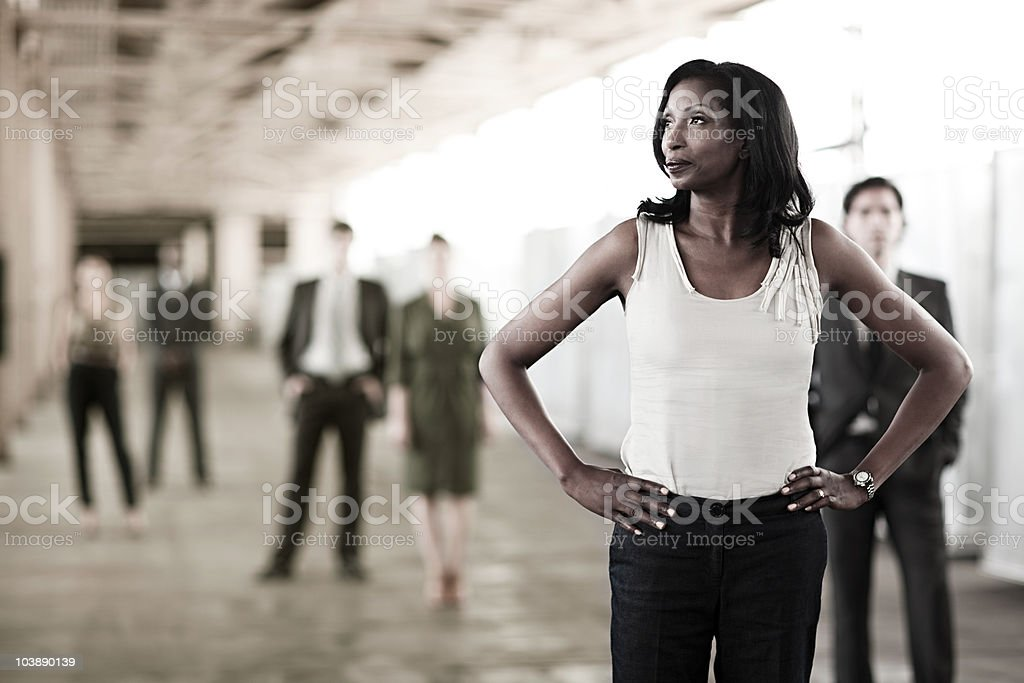Businesswoman in focus stock photo