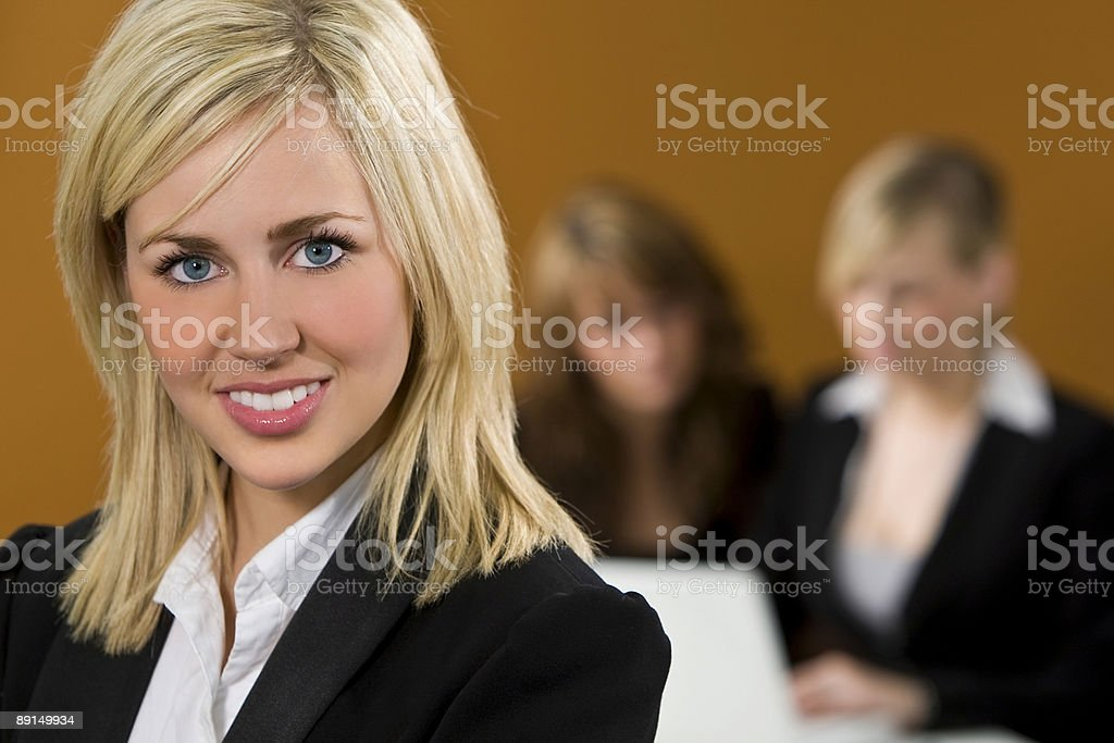 Businesswoman In Focus royalty-free stock photo