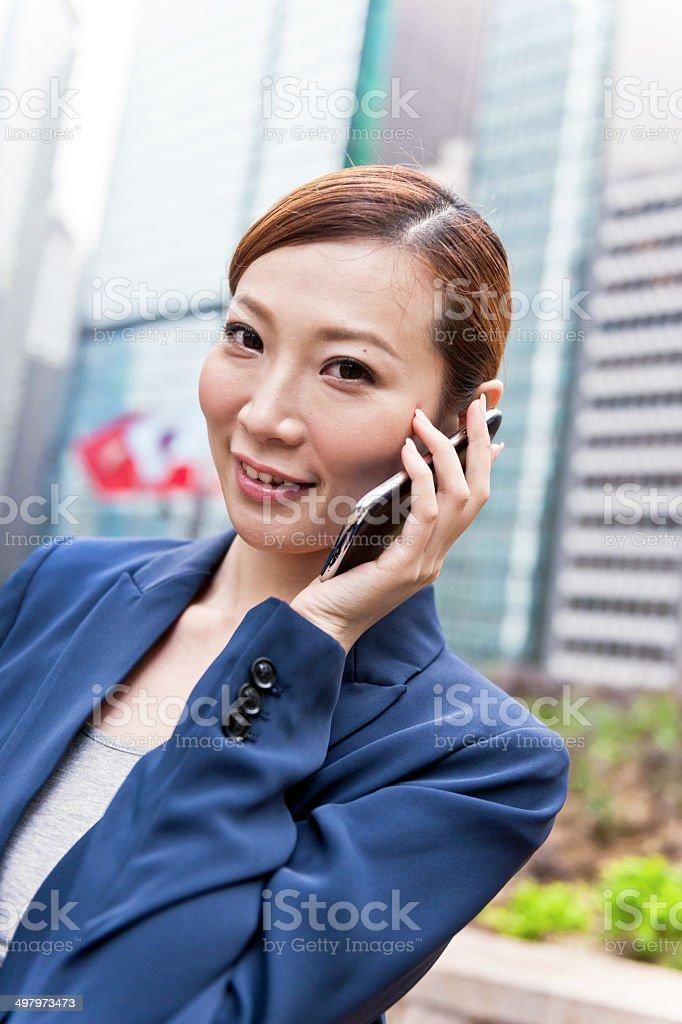 Businesswoman in Hong Kong, China. royalty-free stock photo