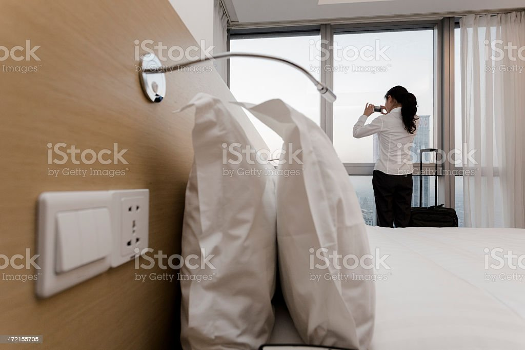 businesswoman in hotel royalty-free stock photo