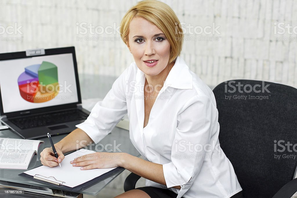 Businesswoman in office royalty-free stock photo