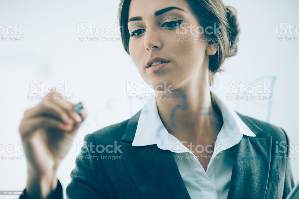 Businesswoman in presentation stock photo