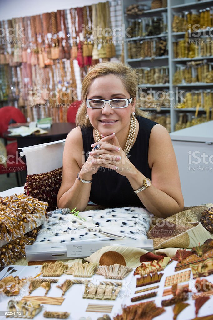 Businesswoman in store royalty-free stock photo