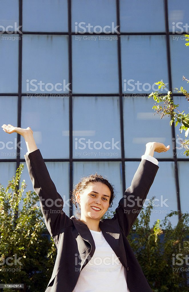 Businesswoman in the City royalty-free stock photo
