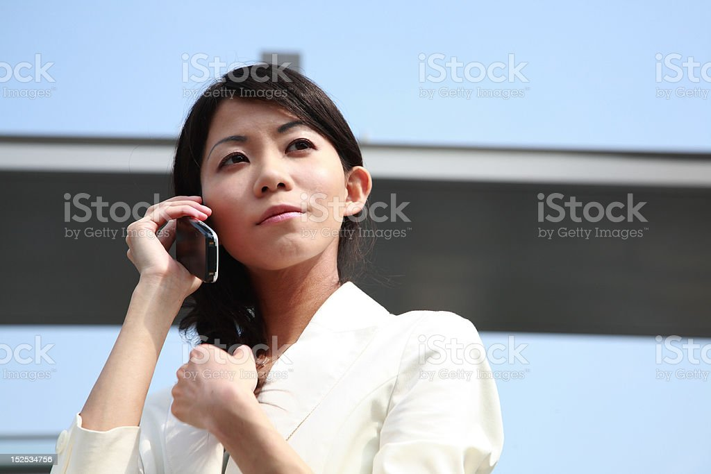 Businesswoman in the office royalty-free stock photo