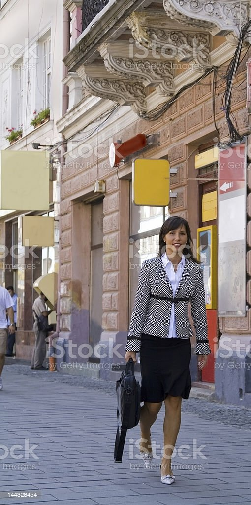 Businesswoman in the street royalty-free stock photo