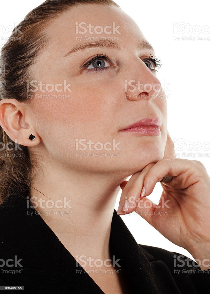 Businesswoman in Thought royalty-free stock photo