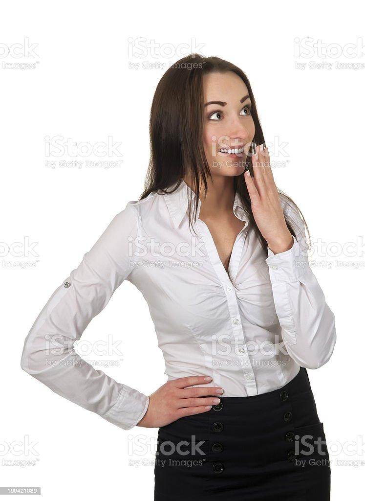 businesswoman is surprised stock photo