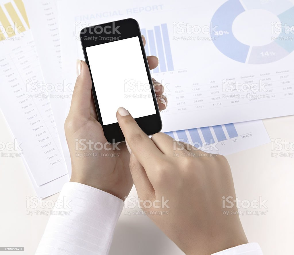 Businesswoman is working royalty-free stock photo