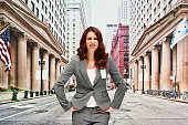Businesswoman looking angry outdoor