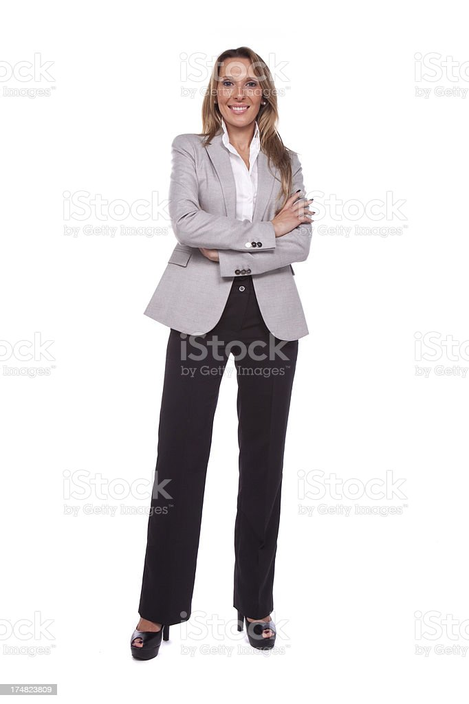 Businesswoman looking at camera royalty-free stock photo