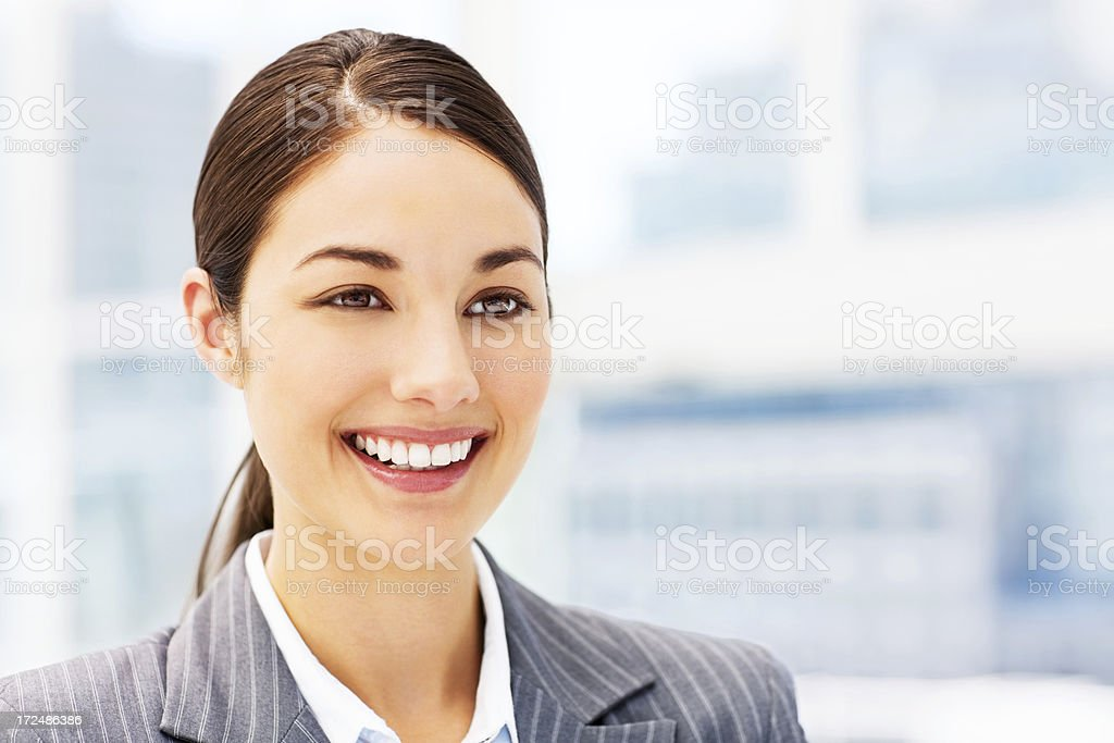 Businesswoman Looking Away royalty-free stock photo