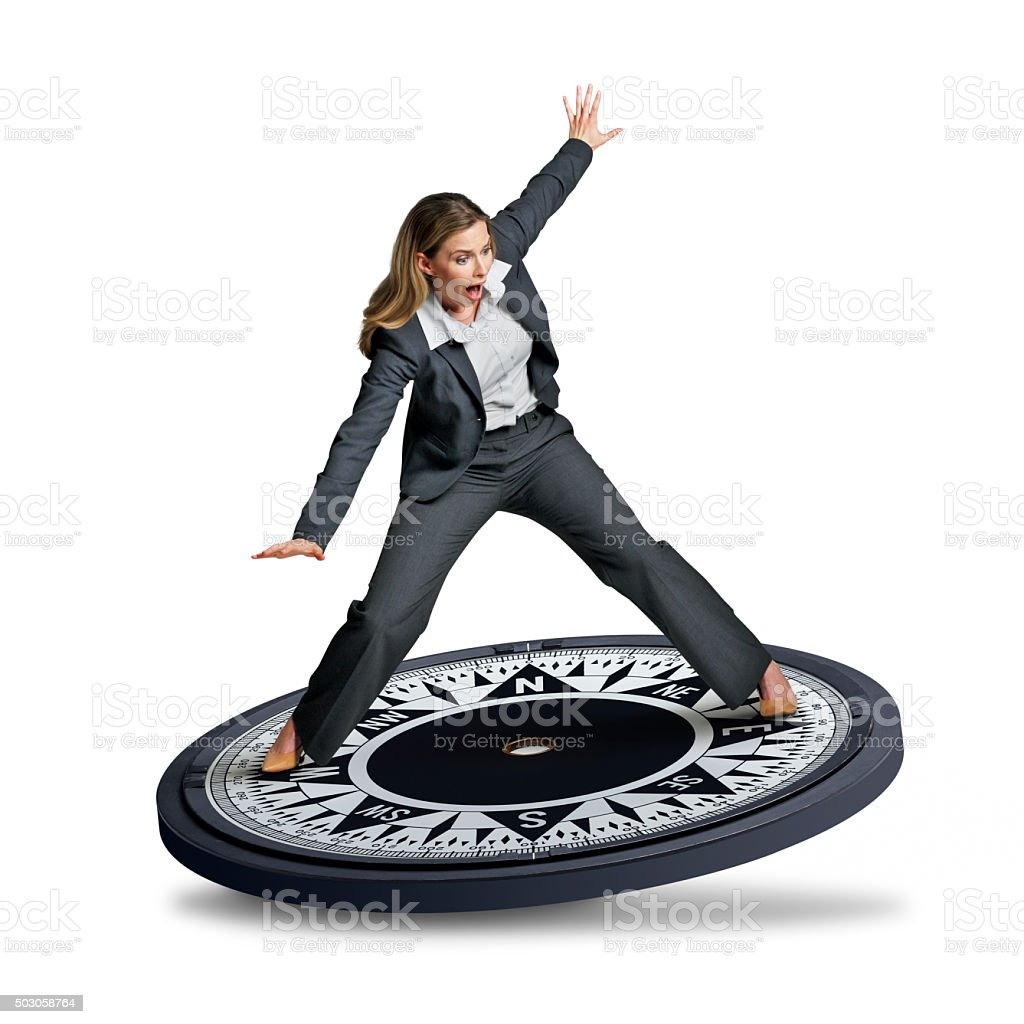 Businesswoman Looking For Direction stock photo