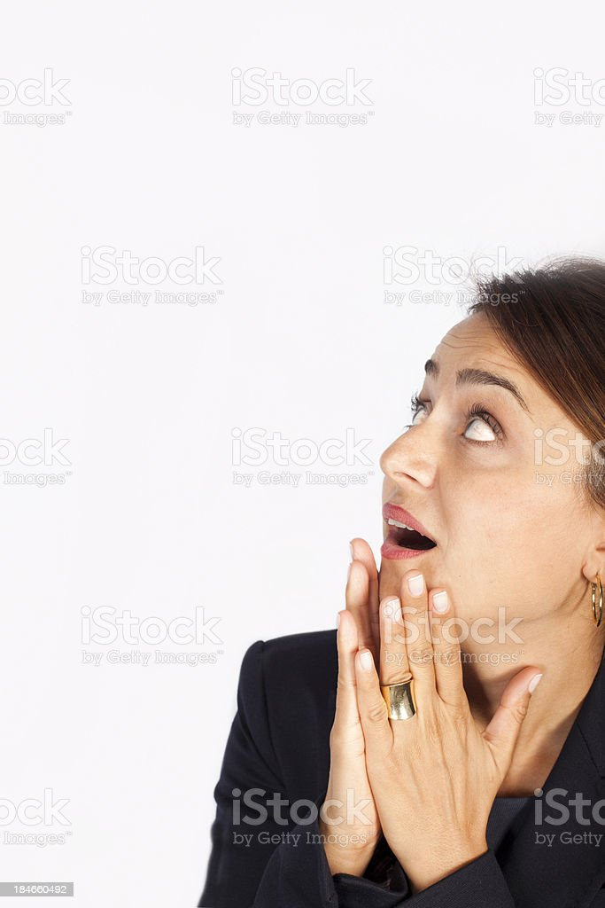Businesswoman Looking Up royalty-free stock photo