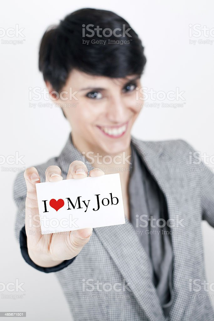 Businesswoman Loves Her Job stock photo